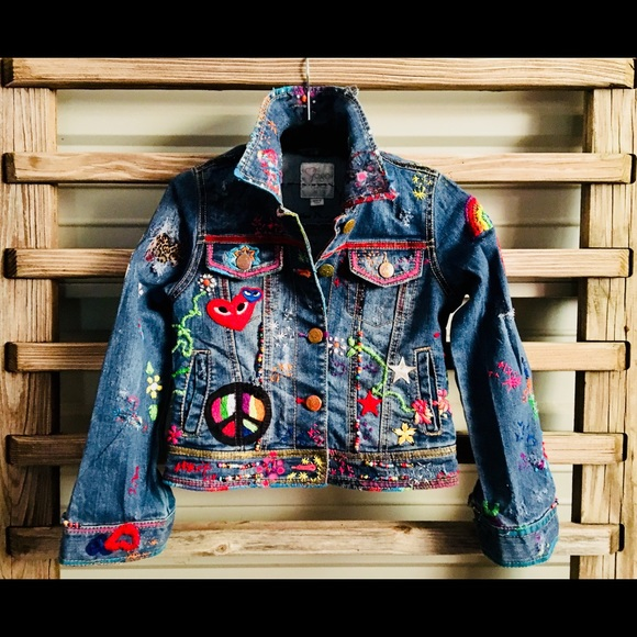 43c01a5d05c Mojo Ryder Jackets & Coats | Oneofakind Custom Design Hippie Jean ...